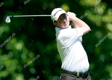 Peter Lawrie Ireland's Peter Lawrie plays from the 2nd tee during the third round of the PGA Championship at the Wentworth golf club, Virginia Water, England