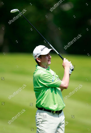 Peter Lawrie Ireland's Peter Lawrie plays a shot from the 4th fairway during the final round of the PGA Championship at the Wentworth golf club, Virginia Water, England