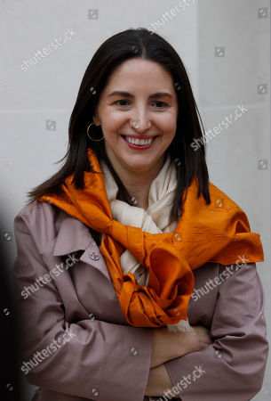 Spanish chef Elena Arzak, who won the 'World's Best Female Chef' award, poses for the photographers as she arrives at the World's 50 Best Restaurant Awards, in central London, . The World's 50 Best Restaurants list is an annual snapshot of the opinions and experiences of over 800 international restaurant industry experts