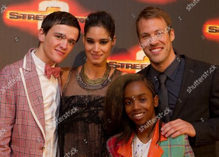 George Sampson, Sofia Boutella, Falk Hentschel, Akai Osei From left to right, British dancer and actor George Sampson, French actress Sofia Boutella, British dancer Akai Oseiand and German actor Falk Hentschel arrive at World Premiere of Streetdance 2 at the O2 arena in London