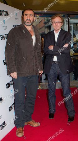 Eric Cantona, Frederic Schoendoerffer French actor and former soccer player Eric Cantona and Director Frederic Schoendoerffer, right, arrives for the UK premiere of Switch, in which he plays Detective Forgeat, at a central London cinema