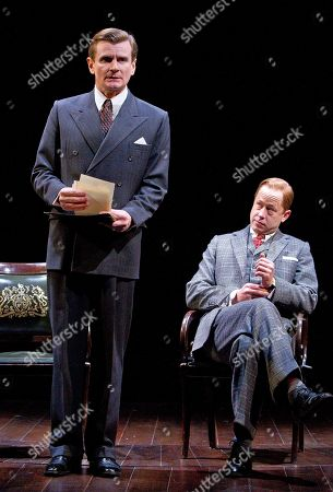 Charles Edwards, Daniel Betts Actors Charles Edwards, left, who plays King George VI and Daniel Betts who plays David, King Edward VIII, perform a scene from 'The Kings Speech' play at Wyndham's Theatre, central London