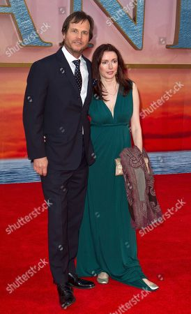 Bill Paxton, Louise Newbury Actor Bill Paxton, left, arrives with his wife, Louise Newbury, at the 'Titanic 3D' UK film premiere at the Royal Albert Hall in Kensington, West London, . The re-launch of the Titanic 3D version comes 15 years after the film was a huge box office hit
