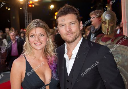 Sam Worthington, Crystal Humphries Actor Sam Worthington, left, arrives with girlfriend Crystal Humphries at the 'Wrath of the Titans' UK premiere at the BFI Southbank in London