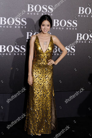 Miss World 2007, Zhang Zilin arrives for the Hugo Boss Black Fashion Show held in Beijing, China