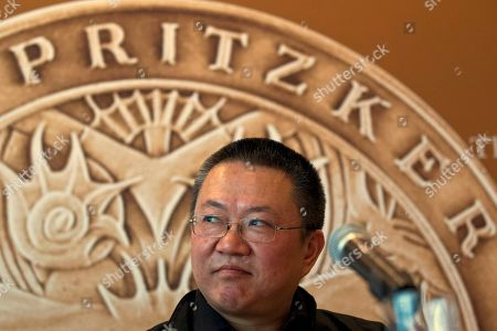 Wang Shu 2012 Pritzker Architecture Prize winner Wang Shu smiles at a press conference held in Beijing, China, . When Wang accepts his field's richest prize in a ceremony Friday at the seat of China's legislature, a symbolic second winner will be waiting in the background - Hyatt Hotels