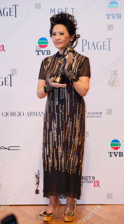 Deanie Ip Hong Kong actress Deanie Ip pose after winning the Best Actress award for her role in the movie 'A Simple Life' at the 31st Hong Kong Film Awards in Hong Kong