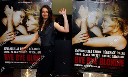 """Clara Ponsot Actress Clara Ponsot arrives for the screening of """"Bye Bye Blondie"""" by French Director Virginie Despentes in Paris"""
