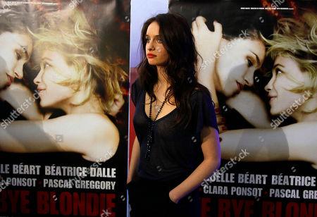 "Clara Ponsot Actress Clara Ponsot arrives for the screening of ""Bye Bye Blondie"" by Director Virginie Despentes in Paris"
