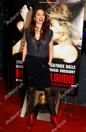 """Clara Ponsot Actress Clara Ponsot arrives for the screening of """"Bye Bye Blondie"""" of French Director Virginie Despentes in Paris"""