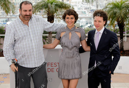 Tessa La Gonzales, Hernan Mendoza, Michel Franco Actors Hernan Mendoza, left, Tessa La Gonzales and director Abbas Kiarostami pose during a photo call for After Lucia at the 65th international film festival, in Cannes, southern France