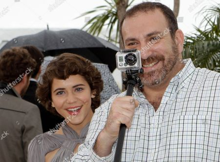 Tessa La Gonzales, Hernan Mendoza Actors Tessa La Gonzales, left and Hernan Mendoza pose during a photo call for After Lucia at the 65th international film festival, in Cannes, southern France
