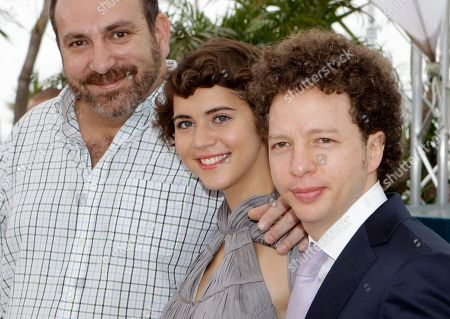 Tessa La Gonzales, Hernan Mendoza, Michel Franco Actors Hernan Mendoza, left, Tessa La Gonzales and director Michel Franco pose during a photo call for After Lucia at the 65th international film festival, in Cannes, southern France