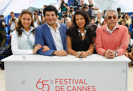 Menna Shalaby, Bassem Samra, Nahed El Sebai, Yousry Nasrallah From left actress Menna Shalaby, actor Bassem Samra, actress Nahed El Sebai and director Yousry Nasrallah pose during a photo call for After the Battle at the 65th international film festival, in Cannes, southern France