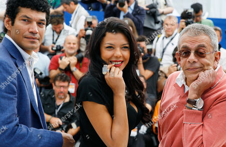 Yousry Nasrallah, Nahed El Sebai, Bassem Samra From left, actors Bassem Samra, Nahed El Sebai, and director Yousry Nasrallah pose during a photo call for After the Battle at the 65th international film festival, in Cannes, southern France