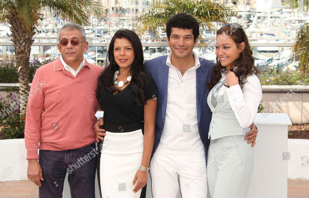 Yousry Nasrallah, Nahed El Sebai, Bassem Samra, Menna Shalaby Cast members from left, Director Yousry Nasrallah, Nahed El Sebai, Bassem Samra and Menna Shalaby during a photo call for After the Battle at the 65th international film festival, in Cannes, southern France