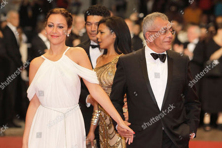 Yousry Nasrallah, Menna Shalaby Director Yousry Nasrallah, left, and Menna Shalaby arrive for the screening of After the Battle at the 65th international film festival, in Cannes, southern France