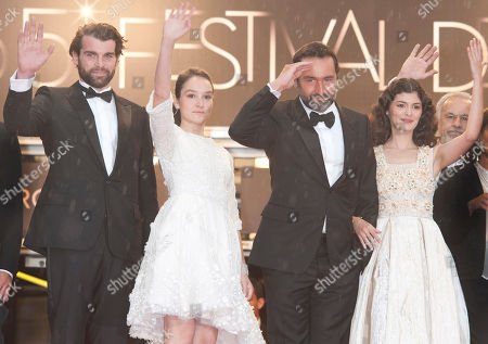 Audrey Tautou, Stanley Weber, Gilles Lellouche, Anais Demoustier, Francis Perrin From left, actors Stanley Weber, Anais Demoustier, Gilles Lellouche, Audrey Tautou and Francis Perrin arrive for the awards ceremony at the 65th international film festival, in Cannes, southern France