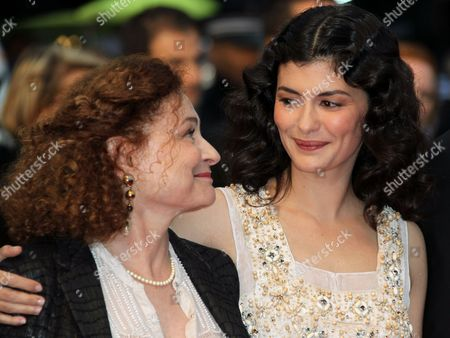 Catherine Arditi, Audrey Tautou Actors Catherine Arditi, left, and Audrey Tautou arrive for the awards ceremony at the 65th international film festival, in Cannes, southern France