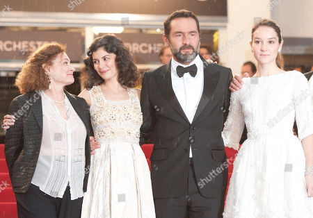 Catherine Arditi, Audrey Tautou, Gilles Lellouche, Anais Demoustier From left actors Catherine Arditi, Audrey Tautou, Gilles Lellouche and Anais Demoustier arrive for the awards ceremony at the 65th international film festival, in Cannes, southern France
