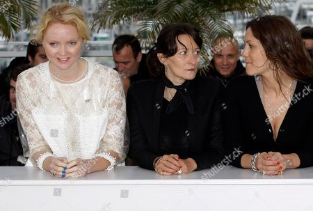 Sylvie Verheyde, Lily Cole, Karole Rocher Actress and model Lily Cole, left, director Sylvie Verheyde, and actress Karole Rocher pose during a photo call for Confession of a Child of the Century at the 65th international film festival, in Cannes, southern France