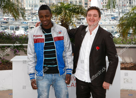 Juan Andres Arango, Luis Carlos Guevara Director Juan Andres Arango, right, and actor Luis Carlos Guevara pose during a photo call for La Playa DC at the 65th international film festival, in Cannes, southern France