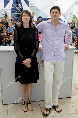 Nathalia Acevedo, Adolfo Jimenez Castro Actors Nathalia Acevedo, left, and Adolfo Jimenez Castro pose during a photo call for Post Tenebras Lux at the 65th international film festival, in Cannes, southern France