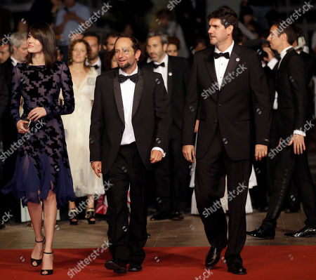 Nathalia Acevedo, Carlos Reygadas, Adolfo Jimenez Castro From left, actress Nathalia Acevedo, director Carlos Reygadas and actor Adolfo Jimenez Castro arrive for the screening of Post Tenebras Lux at the 65th international film festival, in Cannes, southern France