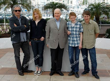 Gilles Bourdos, Michel Bouquet, Christa Theret, Vincent Rottiers, Thomas Doret From left, director Gilles Bourdos, actors Christa Theret, Michel Bouquet, Thomas Doret, and Vincent Rottiers pose during a photo call for Renoir at the 65th international film festival, in Cannes, southern France