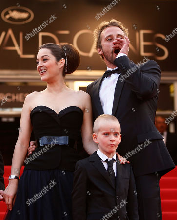 Marion Cotillard, Matthias Schoenaerts, Armand Verdure Actors Marion Cotillard, left, Armand Verdure and Matthias Schoenaerts arrive for the screening of Rust and Bone at the 65th international film festival, in Cannes, southern France