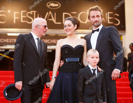 Jacques Audiard, Marion Cotillard, Armand Verdure, Matthias Schoenaertes From left director Jacques Audiard and actors Marion Cotillard, Armand Verdure and Matthias Schoenaerts arrive for the screening of Rust and Bone at the 65th international film festival, in Cannes, southern France