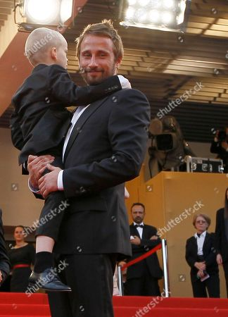 Matthias Schoenaerts, Armand Verdure Actors Matthias Schoenaerts, right and Armand Verdure arrive for the screening of Rust and Bone at the 65th international film festival, in Cannes, southern France