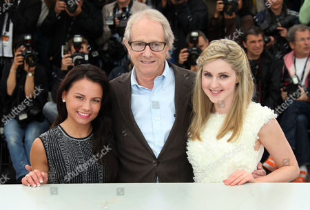 Siobhan Reilly, Jasmin Riggins, Ken Loach Actress Jasmin Riggins, left, director Ken Loach and actress Siobhan Reilly pose during a photo call for The Angel's Share at the 65th international film festival, in Cannes, southern France