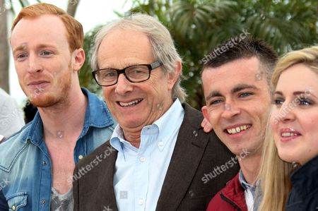 William Ruane, Ken Loach, Paul Brannigan, Siobhan Reilly Actor William Ruane, left, director Ken Loach, actors Paul Brannigan and Siobhan Reilly pose during a photo call for The Angel's Share at the 65th international film festival, in Cannes, southern France