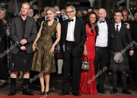 William Ruane, Siobhan Reilly, Ken Loach, Jasmin Riggins, Paul Laverty, Paul Brannigan From left actors, William Ruane, Siobhan Reilly, director Ken Loach, actors Jasmin Riggins, Paul Laverty and Paul Brannigan arrive for the screening of The Angel's Share at the 65th international film festival, in Cannes, southern France