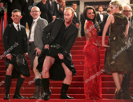 Paul Brannigan, Gary Maitland, William Ruane, Jasmin Riggins, Siobhan Reilly From left actors, Paul Brannigan, Gary Maitland, William Ruane, Jasmin Riggins and Siobhan Reilly pose as they arrive for the screening of The Angel's Share at the 65th international film festival, in Cannes, southern France