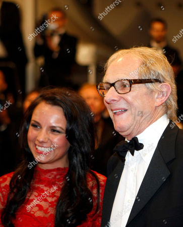 Ken Loach, Jasmin Riggins Director Ken Loach, right, and actress Jasmin Riggins pose on the red carpet for the screening of The Angels' Share at the 65th international film festival, in Cannes, southern France