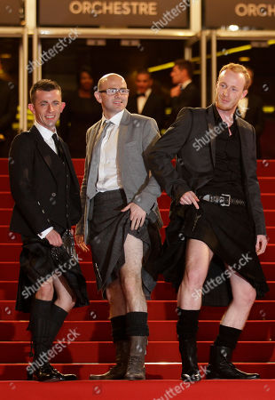 Paul Brannigan, Gary Maitland, William Ruane From left, actors Paul Brannigan, Gary Maitland and William Ruane pose as they arrive for the screening of The Angel's Share at the 65th international film festival, in Cannes, southern France