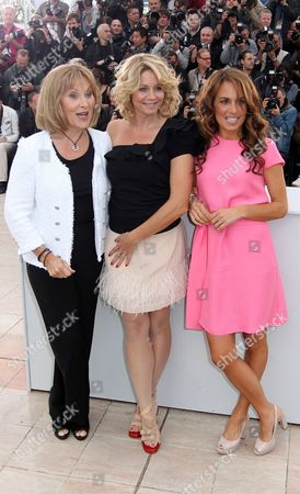Alexandra Rapaport, Susse Wold, Sisse Graum Jorgensen From left actress Susse Wold, producer Sisse Graum Jorgensen, and actress Alexandra Rapaport pose during a photo call for The Hunt at the 65th international film festival, in Cannes, southern France