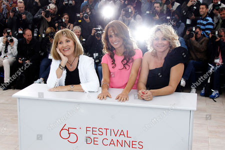 Alexandra Rapaport, Susse Wold, Sisse Graum Jorgensen From left, actresses Susse Wold, Alexandra Rapaport and producer Sisse Graum Jorgensen pose during a photo call for The Hunt at the 65th international film festival, in Cannes, southern France