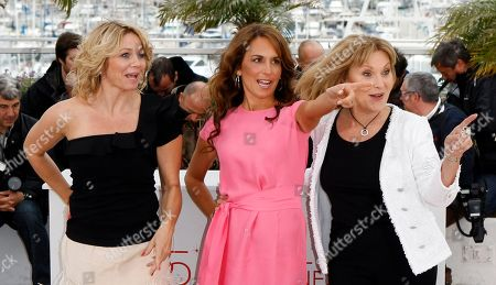 Sisse Graum Jorgensen, Alexandra Rapaport, Susse Wold From left, producer Sisse Graum Jorgensen, actress Alexandra Rapaport and Susse Wold pose during a photo call for The Hunt at the 65th international film festival, in Cannes, southern France