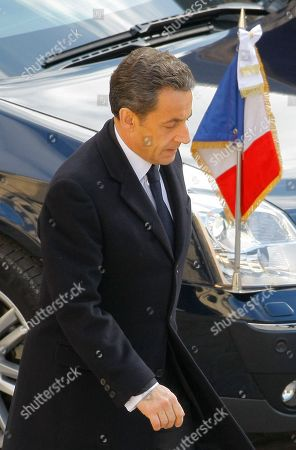 Nicolas sarkozy France's President Nicolas sarkozy walks during a ceremony to pay homage to Raymond Aubrac, a major figure of the World War French Resistance during his funeral in Paris, . Aubrac, who gained fame when he evaded the Nazis in a now-legendary escape led by his equally renowned wife, has died aged 97