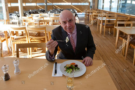 Stephen Evans BBC correspondent Stephen Evans tests a lunch at the canteen at the Felleshus of the Nordic Embassies in Berlin