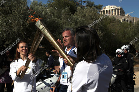 Editorial picture of Greece Olympics London Flame, OLYMPIA, Greece