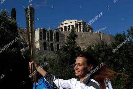 Editorial image of Greece Olympics London Flame, OLYMPIA, Greece