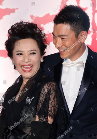 """Stock Photo of Andy Lau, Deannie Yip Hong Kong movie star Andy Lau, right, and actress-singer Deanie Yip pose at their movie premiere """"A Simple Life"""" in Hong Kong . Deanie Yip won the Best Actress award starring in her movie """"A Simple Life"""", at the 68th Venice International Film Festival"""