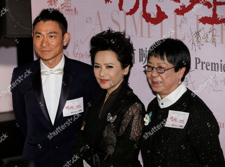 """Andy Lau, Deannie Yip, Ann Hui From left, Hong Kong movie star Andy Lau, actress-singer Deanie Yip and director Ann Hui pose at their movie premiere """"A Simple Life"""" in Hong Kong . Deanie Yip won the Best Actress award starring in her movie """"A Simple Life"""", at the 68th Venice International Film Festival"""