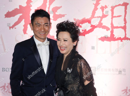 """Andy Lau, Deannie Yip Hong Kong movie star Andy Lau, left, and actress-singer Deanie Yip pose at their movie premiere """"A Simple Life"""" in Hong Kong . Deanie Yip won the Best Actress award starring in her movie """"A Simple Life"""", at the 68th Venice International Film Festival"""