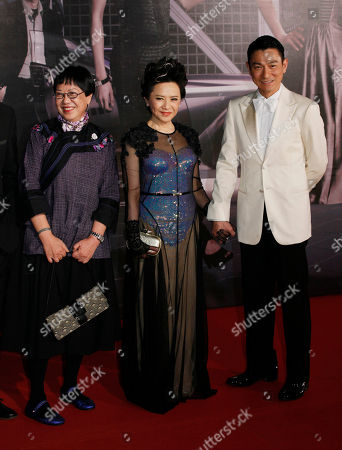 Andy Lau, Deanie Ip, Ann Hui From right, Hong Kong actor Andy Lau, actress Deanie Ip and director Ann Hui pose on the red carpet of the 31st Hong Kong Film Awards in Hong Kong