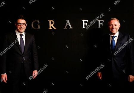 Laurence Graff, Francois Graff Graff Diamonds Founder and Chairman Laurence Graff, right, and CEO Francois Graff stands before attending an IPO roadshow in Hong Kong. The London jeweler said Thursday, May 31, 2012 in a brief statement that it's postponing plans to go public in the southern Chinese financial center because of the recent downturn in global financial markets. Graff Diamonds would have been the latest in a line of foreign luxury brands to sell shares in Hong Kong